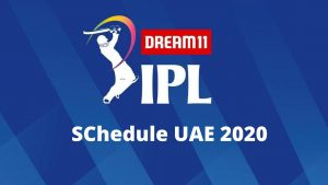Dream11 IPL 2020 all teams schedule Images