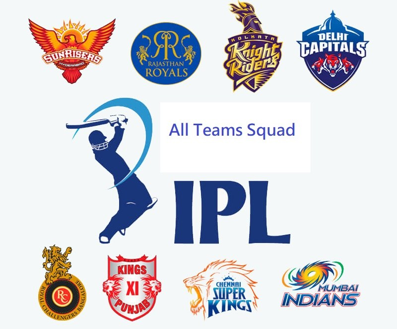 IPL 2020 all teams Squad Players list