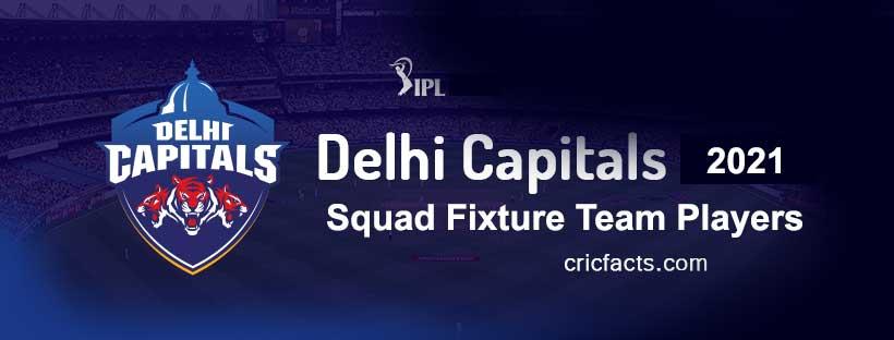 Delhi-Capitals-2021-squad-fixture-time table-schedule