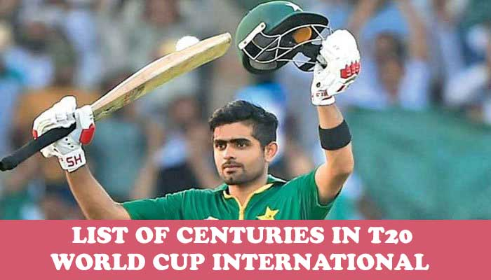 List of Centuries in T20 World Cup International by Player: