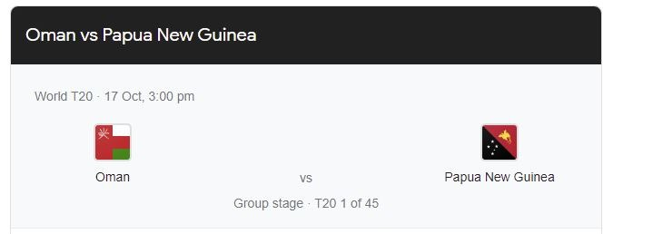 OMAN vs PAPUA NEW GUINEA First T20 Icc World Cup October 17th 2021: Match Preview, Pitch Report, Weather Report, Probable Line-ups, and Match Prediction Al Amerat Oman