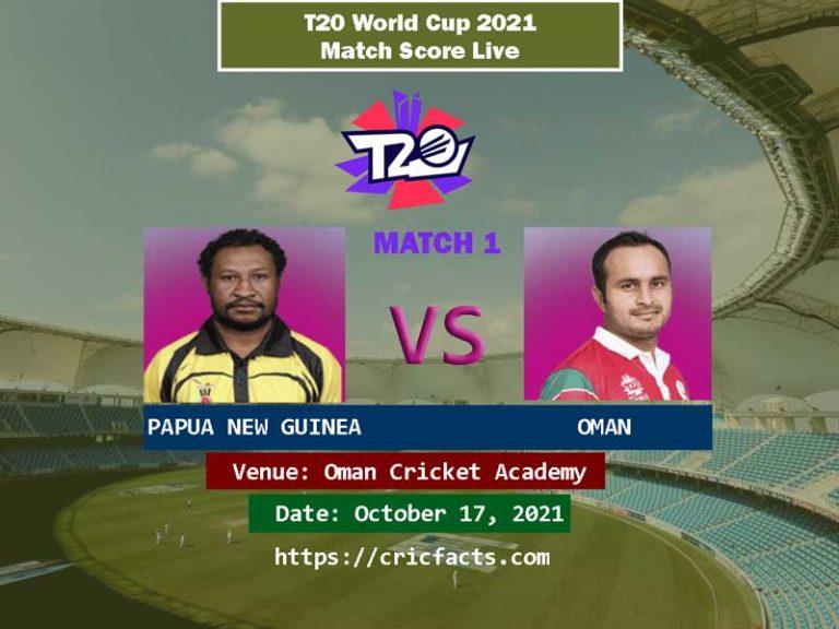ICC T20 WC 2021: Oman vs Papua New Guinea Live Score TV Information on CricHD, Willow Tv, PTV Sports, Ten Sports