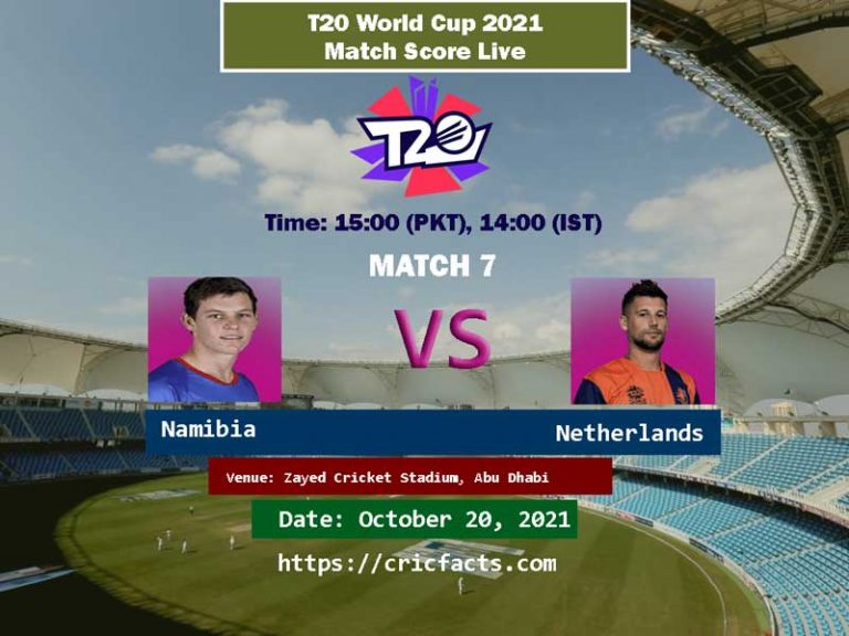 Watch live Streaming of Namibia vs Netherlands 7th T20 World Cup Match